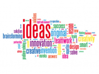 word cloud zum Thema Idea