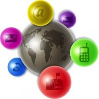 Globus & Kommunikationssymbole